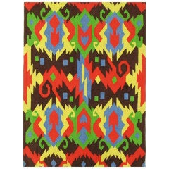 Edward Fields 1972 Colorful Geometric 6' x 8' Rug