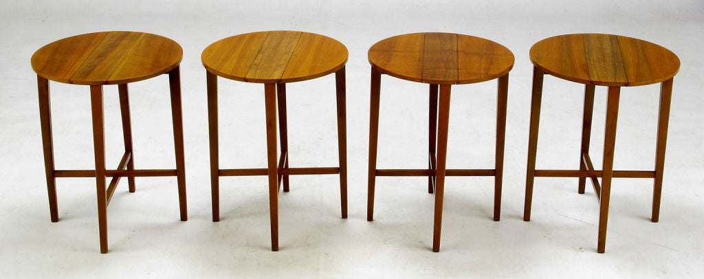 20th Century Set Four Bertha Schaefer Style Nesting Tables and Serving Table For Sale
