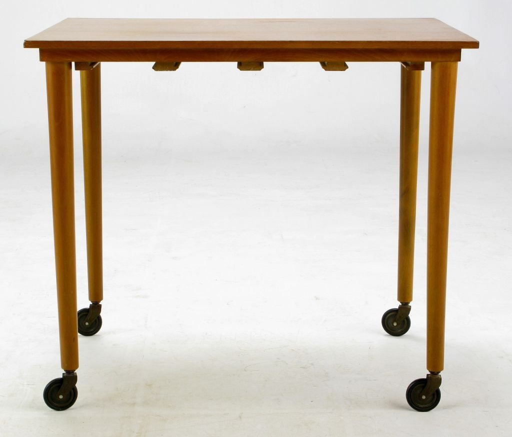 Set Four Bertha Schaefer Style Nesting Tables and Serving Table For Sale 1