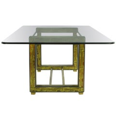 Mastercraft Bernhard Rohne Acid-Etched Brass Table