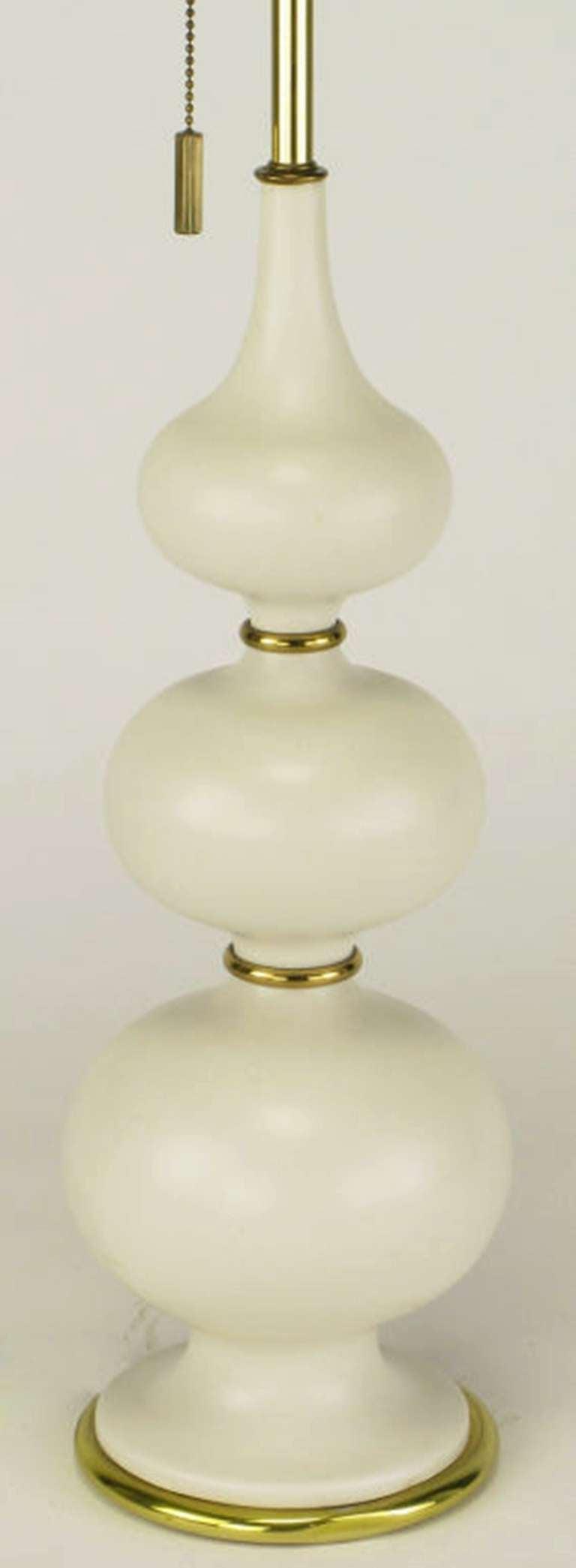 American Gerald Thurston for Lightolier Triple Gourd-Form Table Lamp For Sale