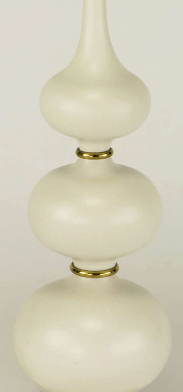 Gerald Thurston for Lightolier Triple Gourd-Form Table Lamp In Excellent Condition For Sale In Chicago, IL