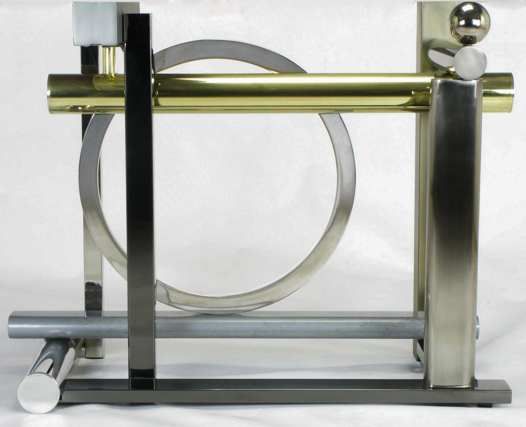 20th Century Design Institute America Metal Sculpture Dining Table For Sale