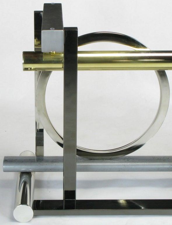 Design Institute America Metal Sculpture Dining Table For Sale 1