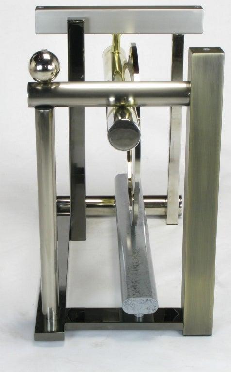 Design Institute America Metal Sculpture Dining Table For Sale 2