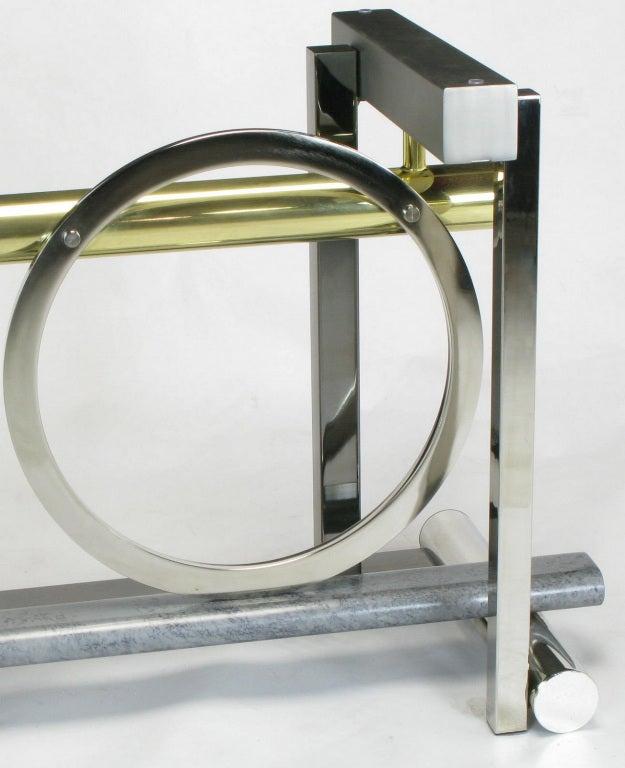 Design Institute America Metal Sculpture Dining Table For Sale 3