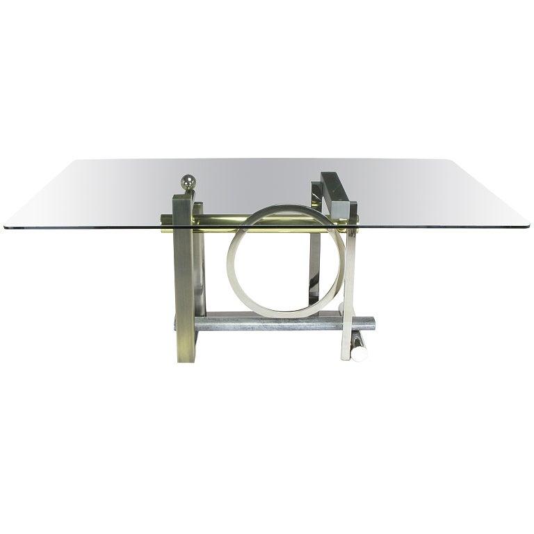 Design Institute America Metal Sculpture Dining Table For Sale