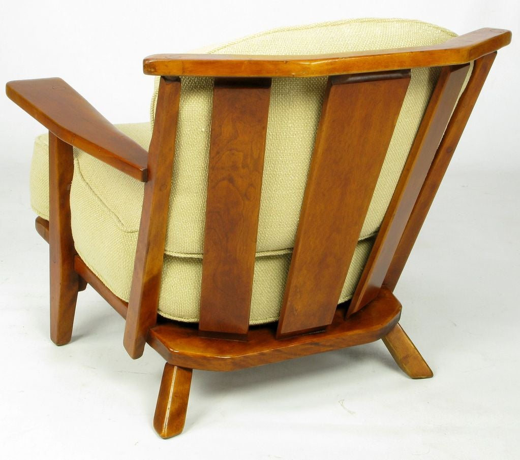 Cushman Colonial Red Rock Maple Club Chair At 1stdibs