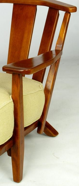 Cushman Colonial Red Rock Maple Club Chair At 1stdibs