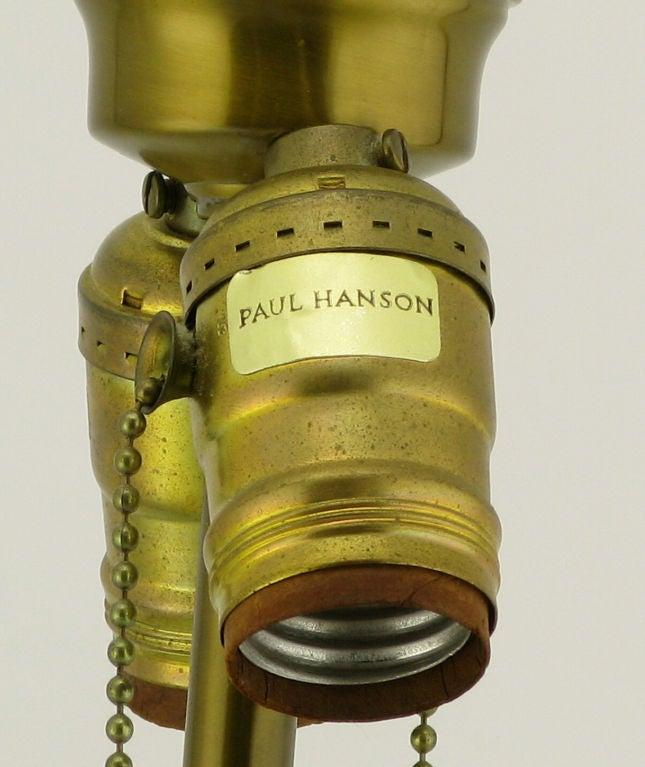 Pair Paul Hanson Yellow Asian Design Ceramic Table Lamps 9
