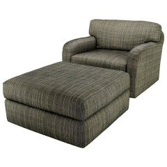 Jay Spectre Studio Club Chair & Ottoman