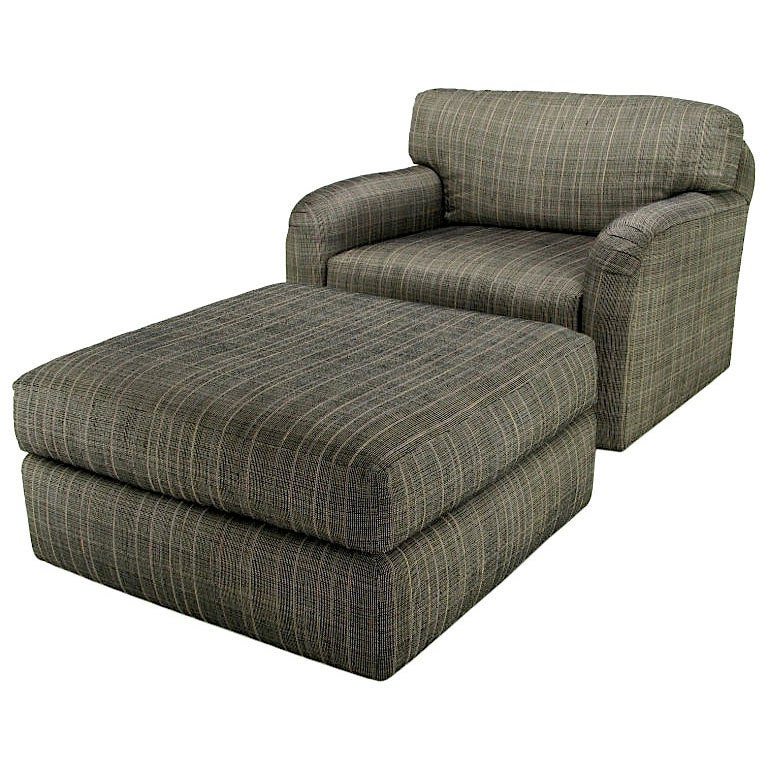 Jay Spectre Studio Club Chair and Ottoman