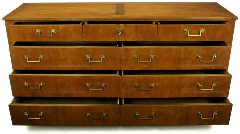 Baker French Cherry Regency Style Long Dresser At 1stdibs