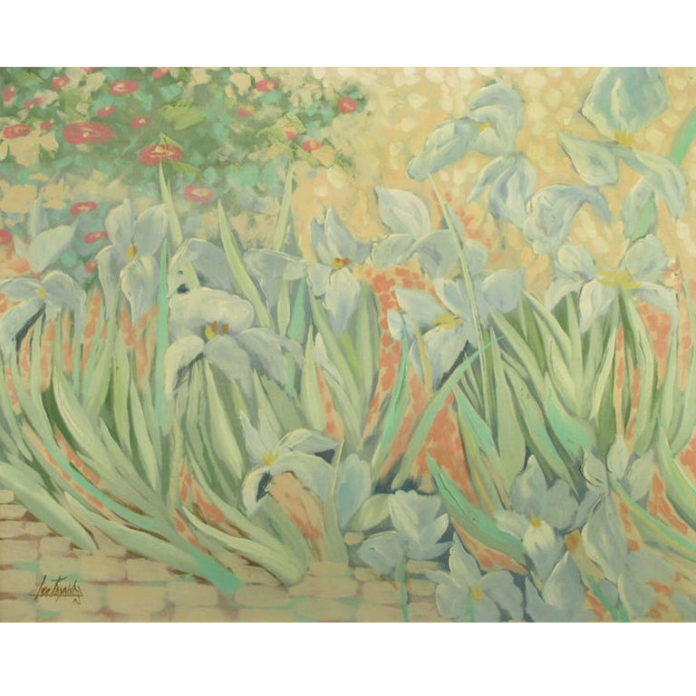 Lee Reynolds Impressionist Garden Oil On Canvas For Sale