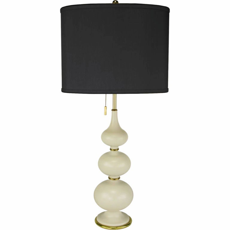 Gerald Thurston for Lightolier Triple Gourd-Form Table Lamp For Sale