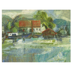 William Morehouse 1950s Abstract Impressionist Landscape