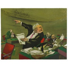 William Gropper Social Realist Lithograph
