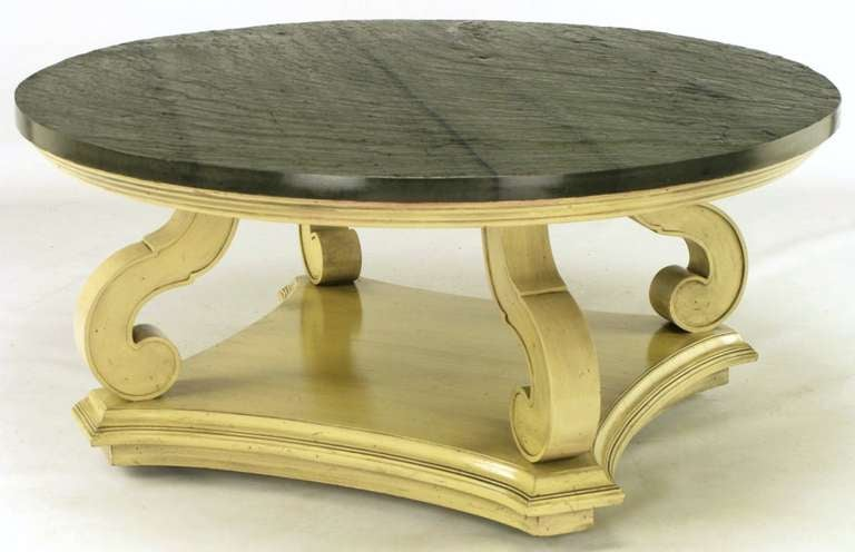 Dorothy Draper Espana Collection Ivory And Slate Coffee Table At 1stdibs