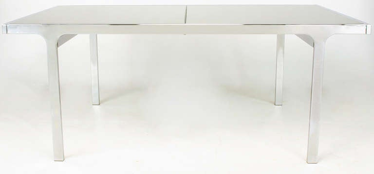 Canadian Signed Pierre Cardin Chrome and Mirror Dining Table For Sale