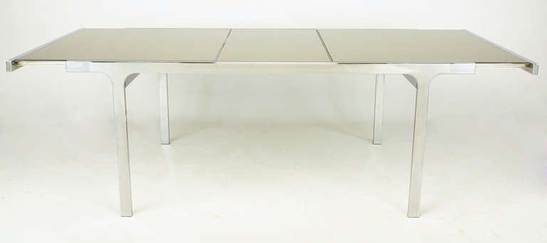 Signed Pierre Cardin Chrome and Mirror Dining Table In Excellent Condition For Sale In Chicago, IL