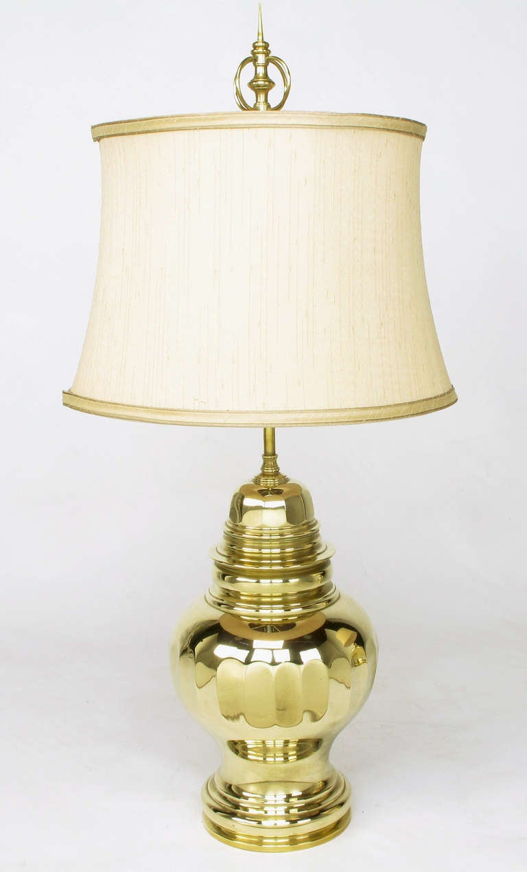 Pair of vintage chapman brass ginger jar table lamps for sale at pair of vintage chapman brass ginger jar table lamps 3 geotapseo Gallery