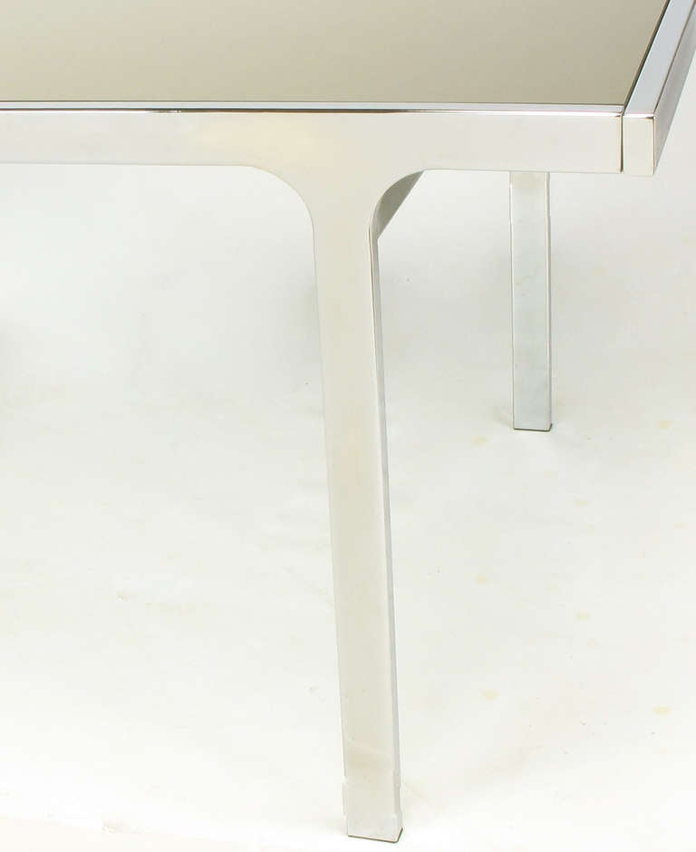 Signed Pierre Cardin Chrome and Mirror Dining Table For Sale 2