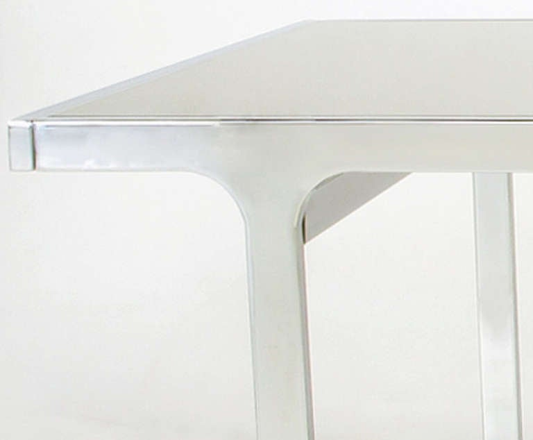 Signed Pierre Cardin Chrome and Mirror Dining Table For Sale 3