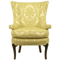 Wood Wingback Chairs