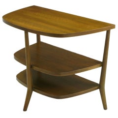 Bertha Schaefer Walnut Demilune Side Table