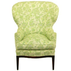 Rare 1940 Edward Wormley Wing Chair For Dunbar