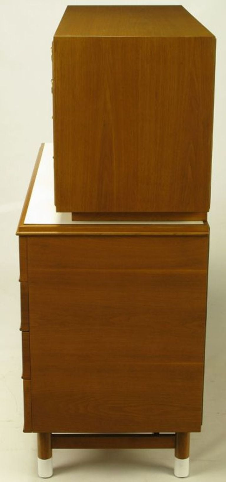 Renzo Rutili Mahogany & White Micarta Chest-On-Chest In Excellent Condition For Sale In Chicago, IL
