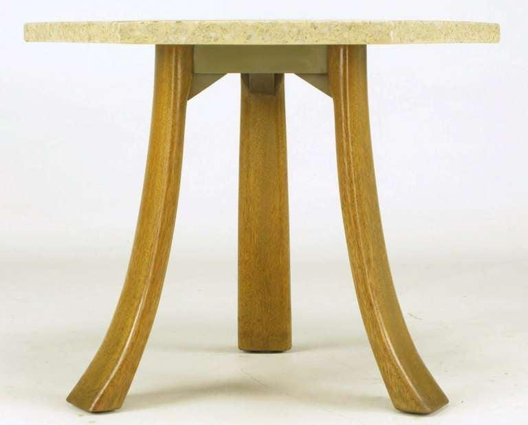 Harvey Probber Hexagonal Mahogany and Terrazzo Marble Side Table 5