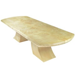 Karl Springer Pagoda Dining Table in Goatskin