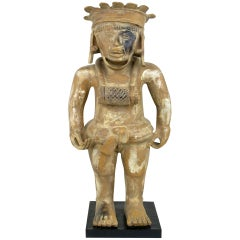 Mayan Figural Sculpture In Glazed Terra Cotta