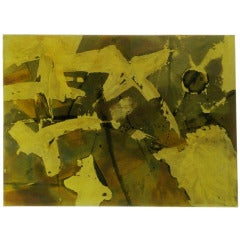 Silvio Giovenetti Abstract Acid-Etched Metal Painting