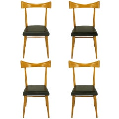 Four Paul McCobb Winchendon Open Back Dining Chairs
