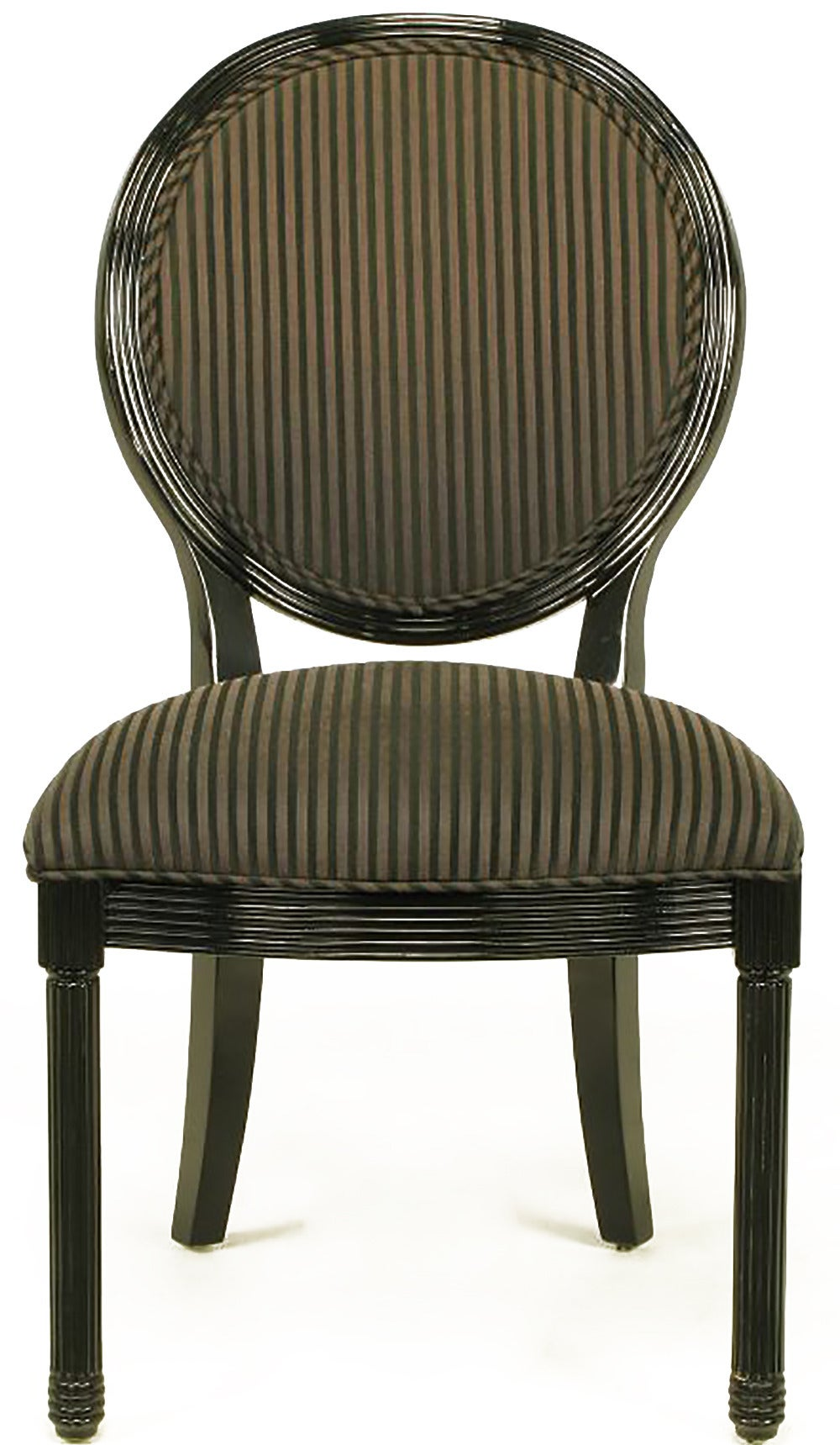 Eight Rare Jay Spectre Black Lacquer Dining Chairs 2