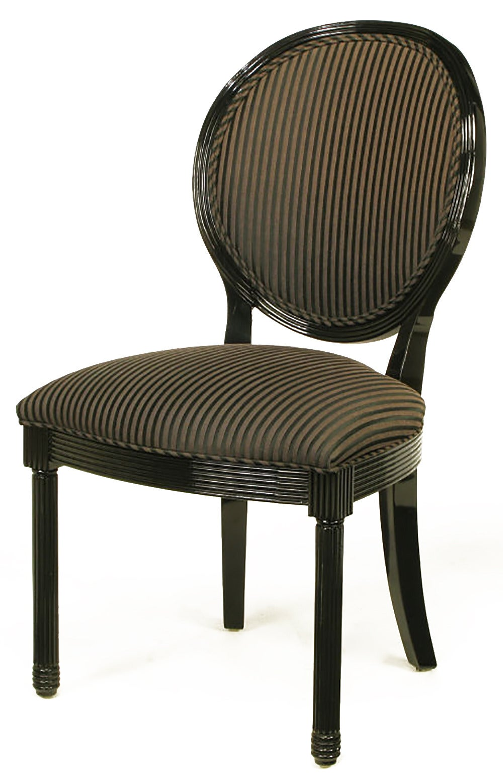 eight rare jay spectre black lacquer dining chairs for