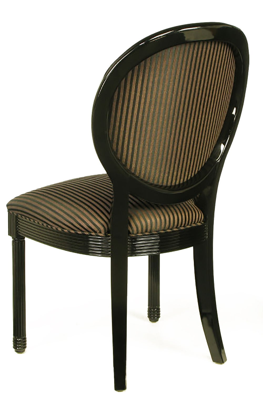Eight Rare Jay Spectre Black Lacquer Dining Chairs 5