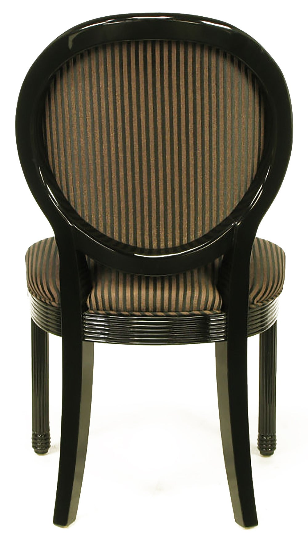 Eight Rare Jay Spectre Black Lacquer Dining Chairs 6