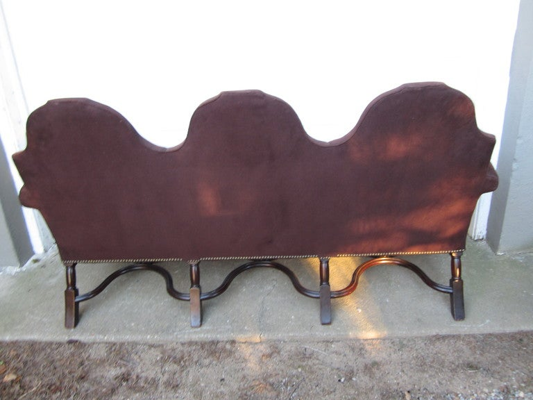 Baroque Os Du Mouton Style Settee For Sale
