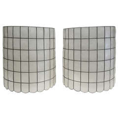 Pair of Capiz Lampshades