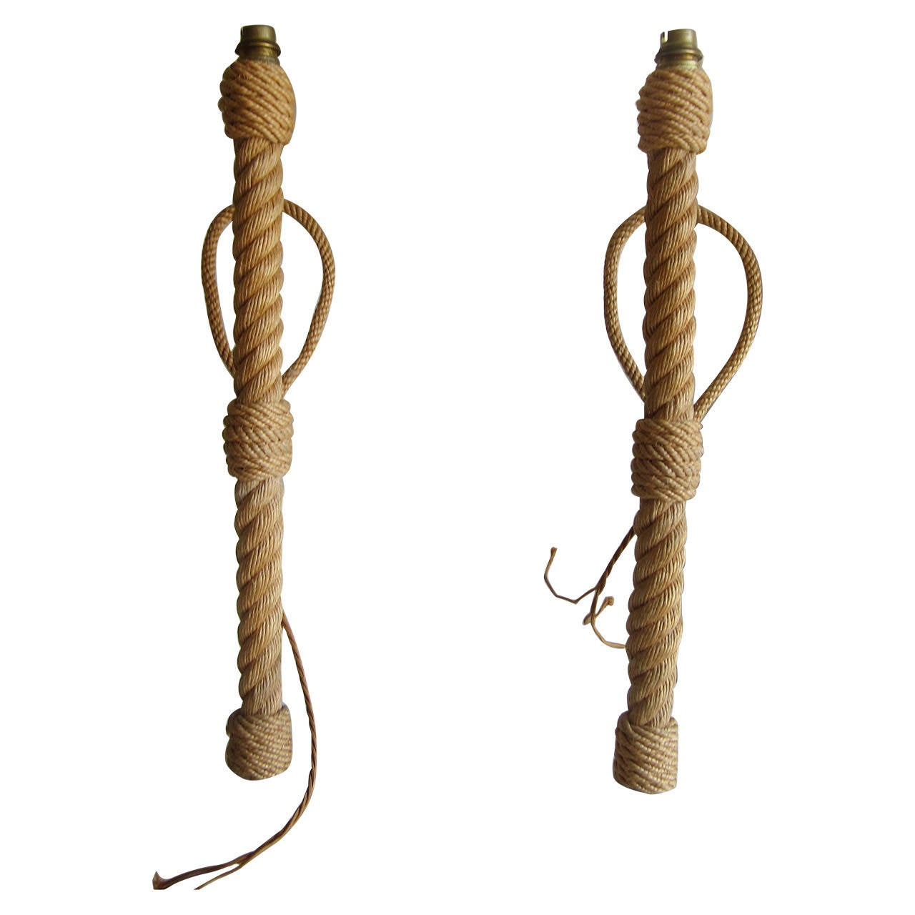 Wall Lights With Rope : Pair of French Rope Sconces at 1stdibs
