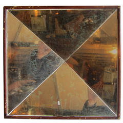 Concave Paneled Mirror