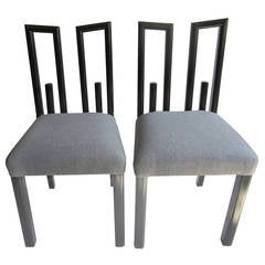 Pair of James Mont Side Chairs