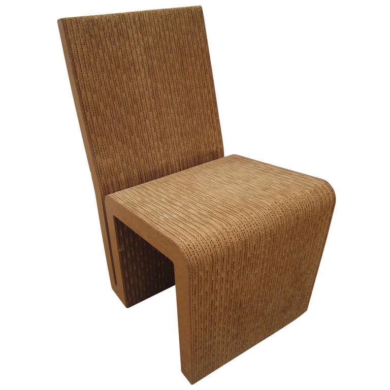 Frank Gehry Cardboard Easy Edges Chair 1