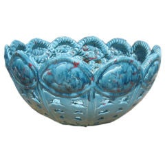 Large 19th Century Majolica Bowl