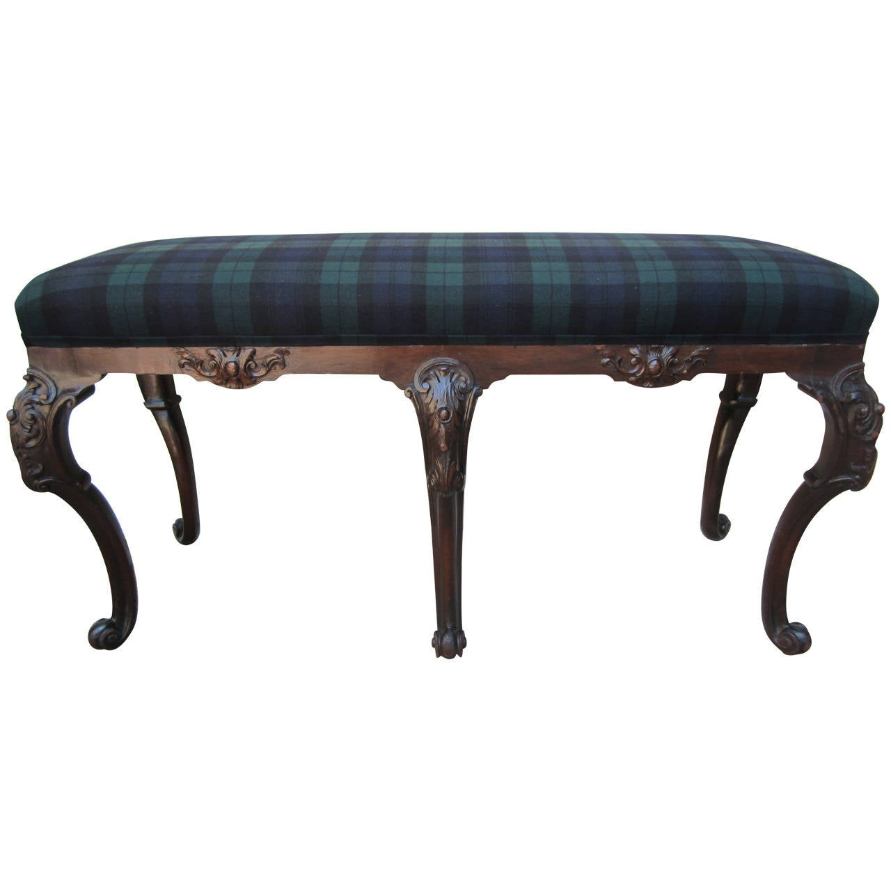 George iii style upholstered bench for sale at 1stdibs Upholstered benches