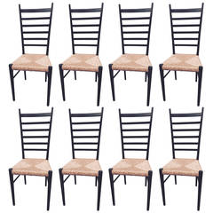 Set of Eight Chairs in the Style of Gio Ponti