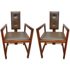 Andre Sornay Attributed Pair of Chairs